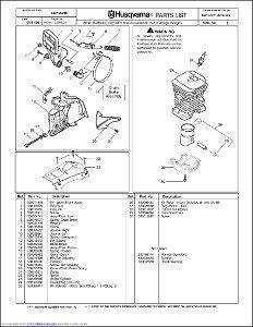 Husqvarna 142 Spare Parts Manual